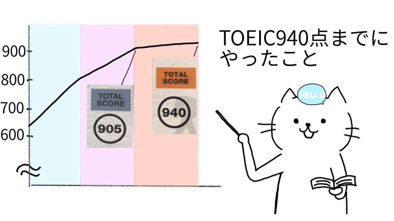 TOEIC900点までにやったこと