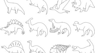 恐竜塗り絵