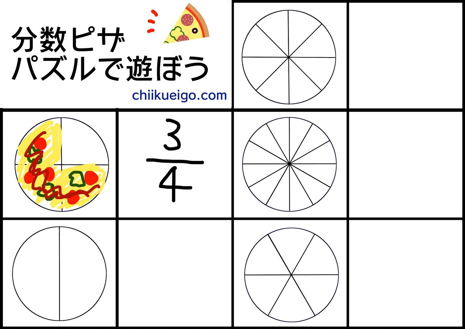 分数ピザパズル