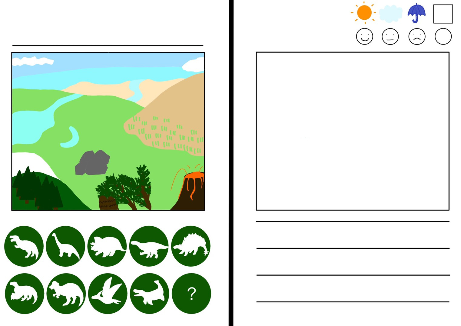 恐竜お散歩ノート